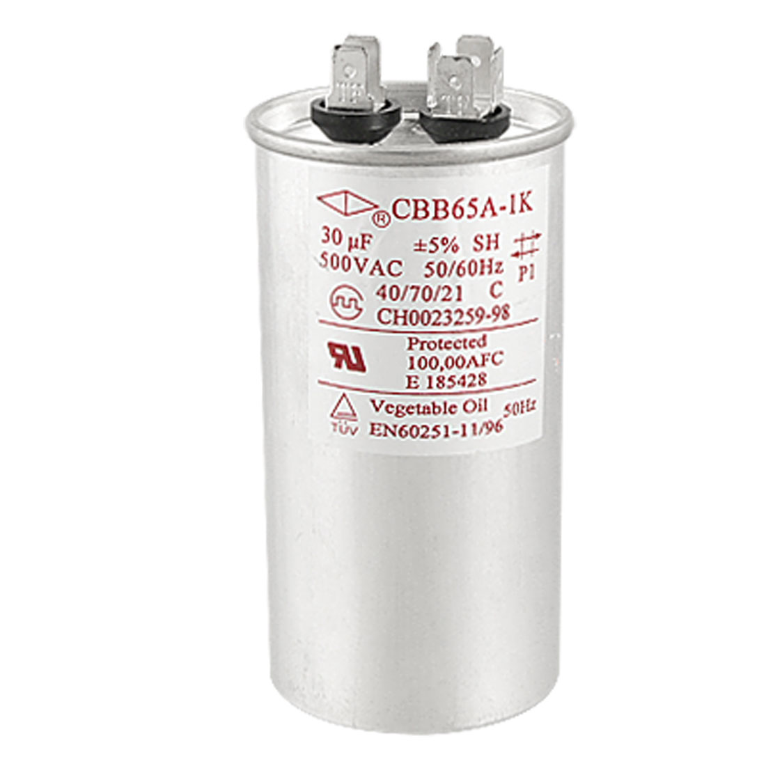 Air Conditioner AC 500V 30uF Polypropylene Film Motor Capacitor