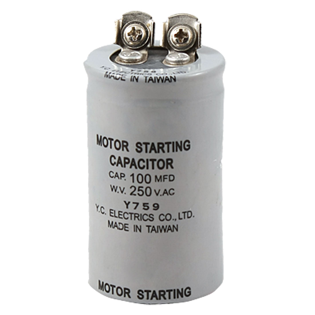 ABS Series 100MFD 100UF 250V AC Motor Starting Capacitor