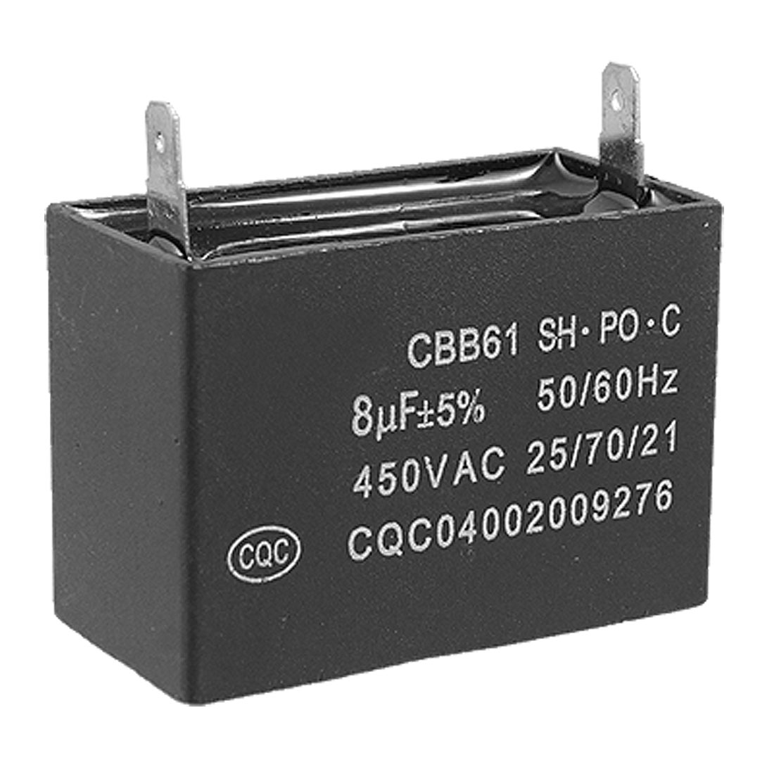 CBB61 Air Conditioner Fan Motor Running Capacitor 8uF 450V AC 50/60 Hz