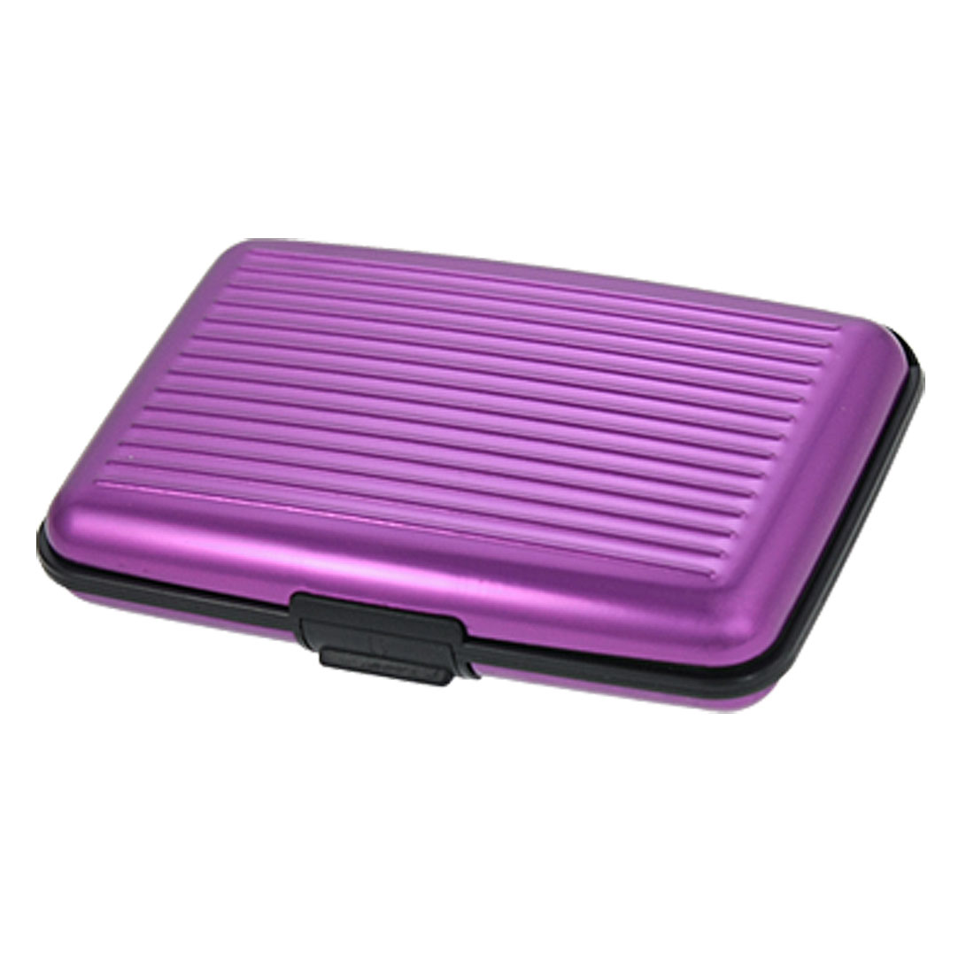 Purple Nonslip 6 Pockets Business Name ID Credit Card Case Holder