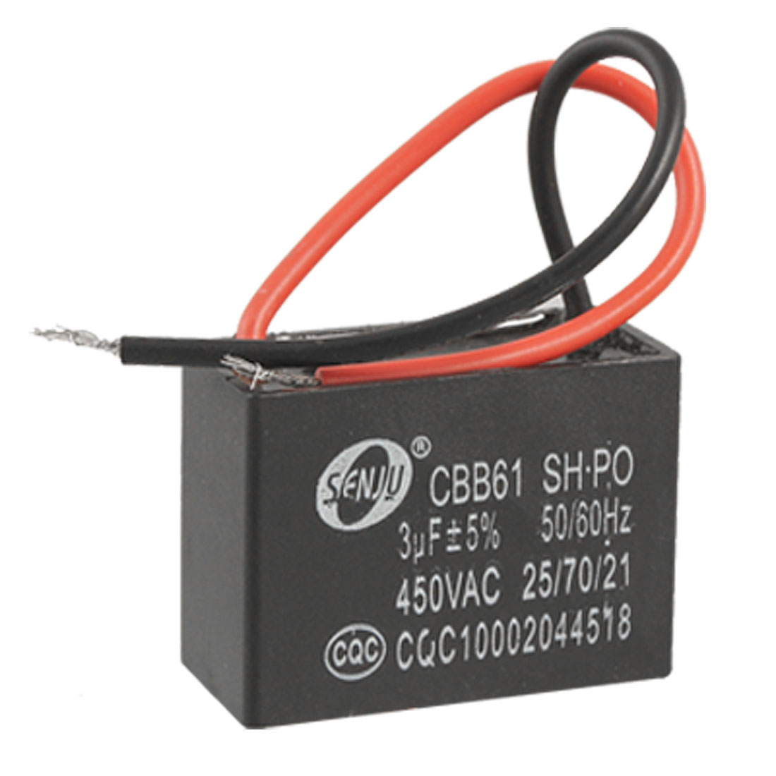 CBB61 Ceiling Fan 2 Wires Motor Run Capacitor AC 450V 3uF