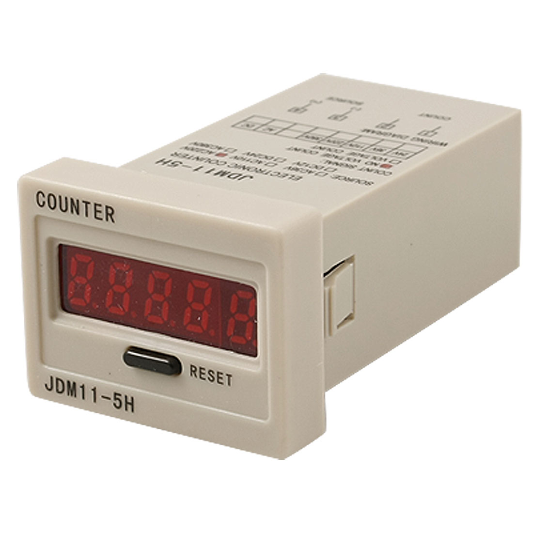 Reset Panel Mode 5-Digit LED Display Electric Counter AC 220V