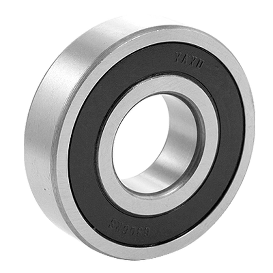 Double Sealed 30mm Inner Dia Deep Groove Ball Wheel Bearing 6306RS