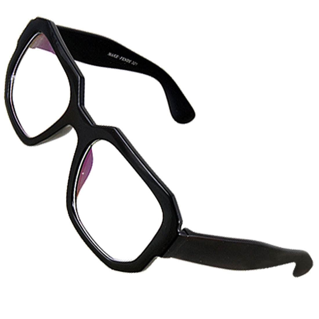 Unisex Black Single Bridge Full Frame Plastic MC Plain Glasses