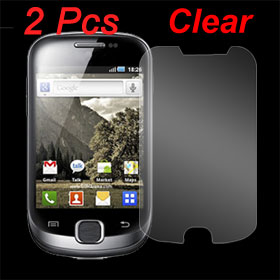 2 Pcs Clear LCD Screen Protector Film Guard for Samsung Galaxy Fit S5670
