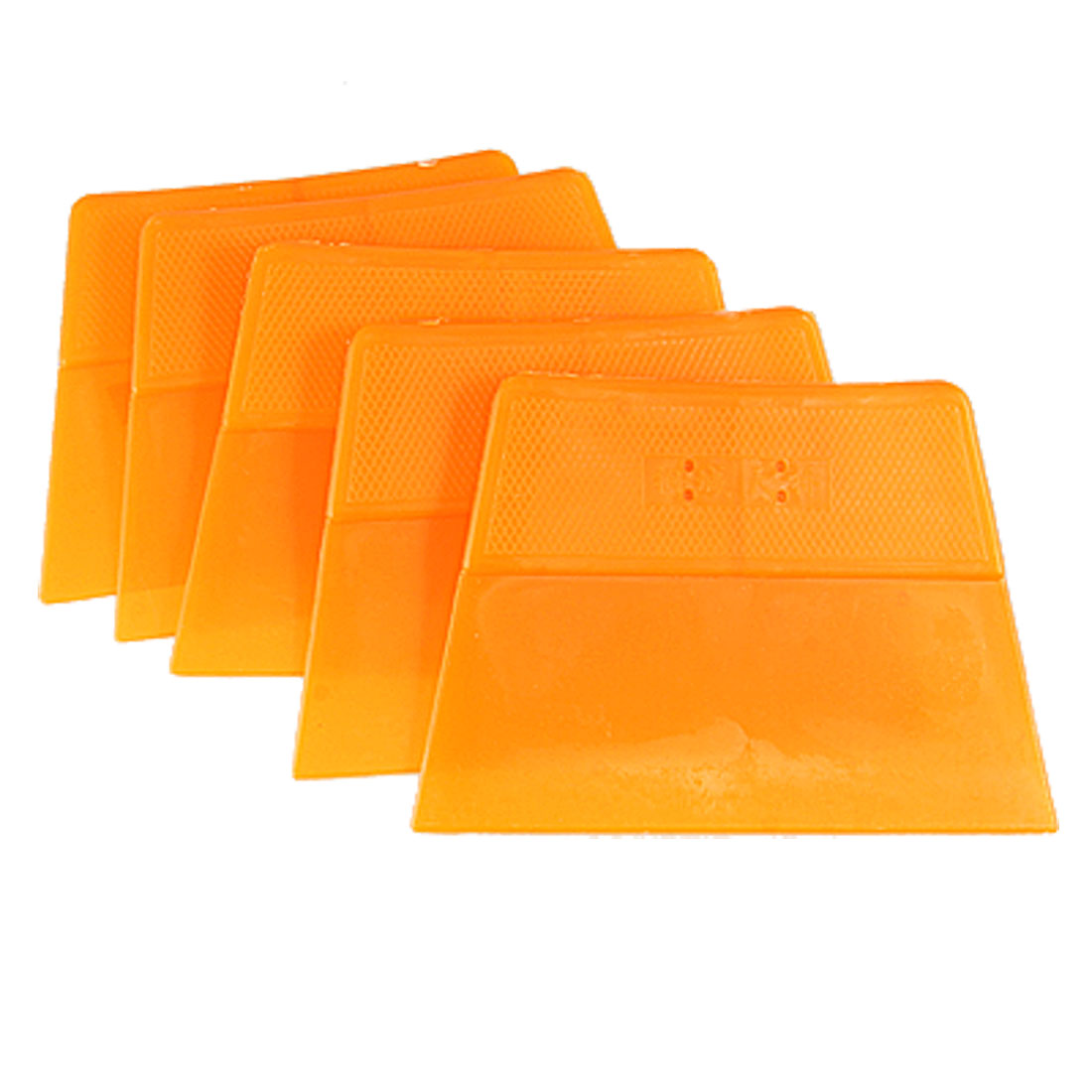 5 Pcs Nonslip Handle Car Auto Windshield Film Scraper Orange