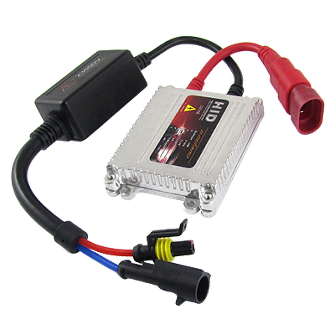 Silver Tone 35W HID Xenon Slim Ballast Conversion Kit for Car Headlight