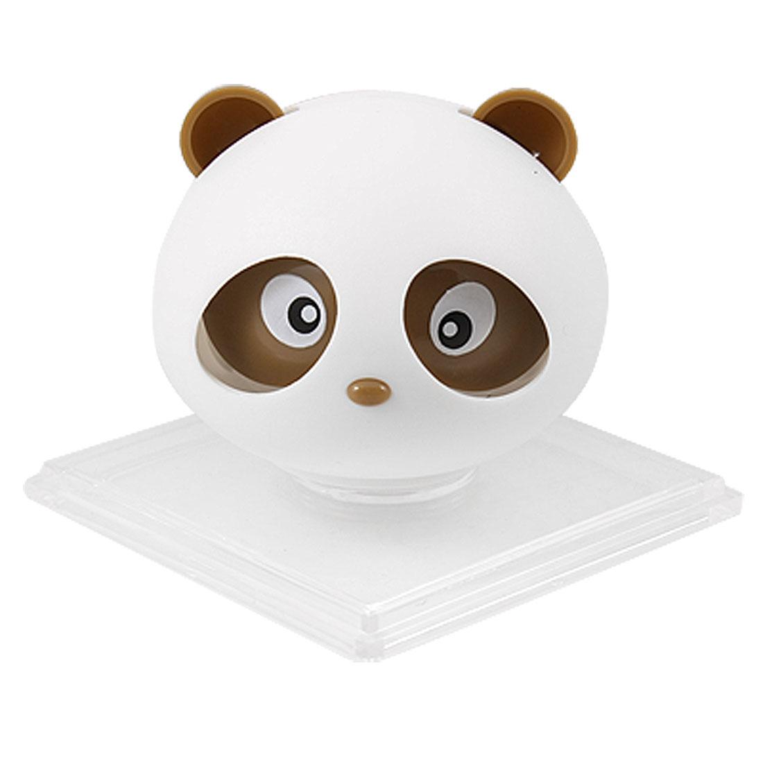 Brown Panda Shaped Car Air Freshener Perfume w Square Holder