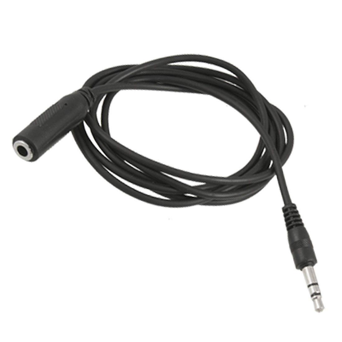 1.2M 3.5mm Male to Female Adapter Connector Audio Extend Cable Black