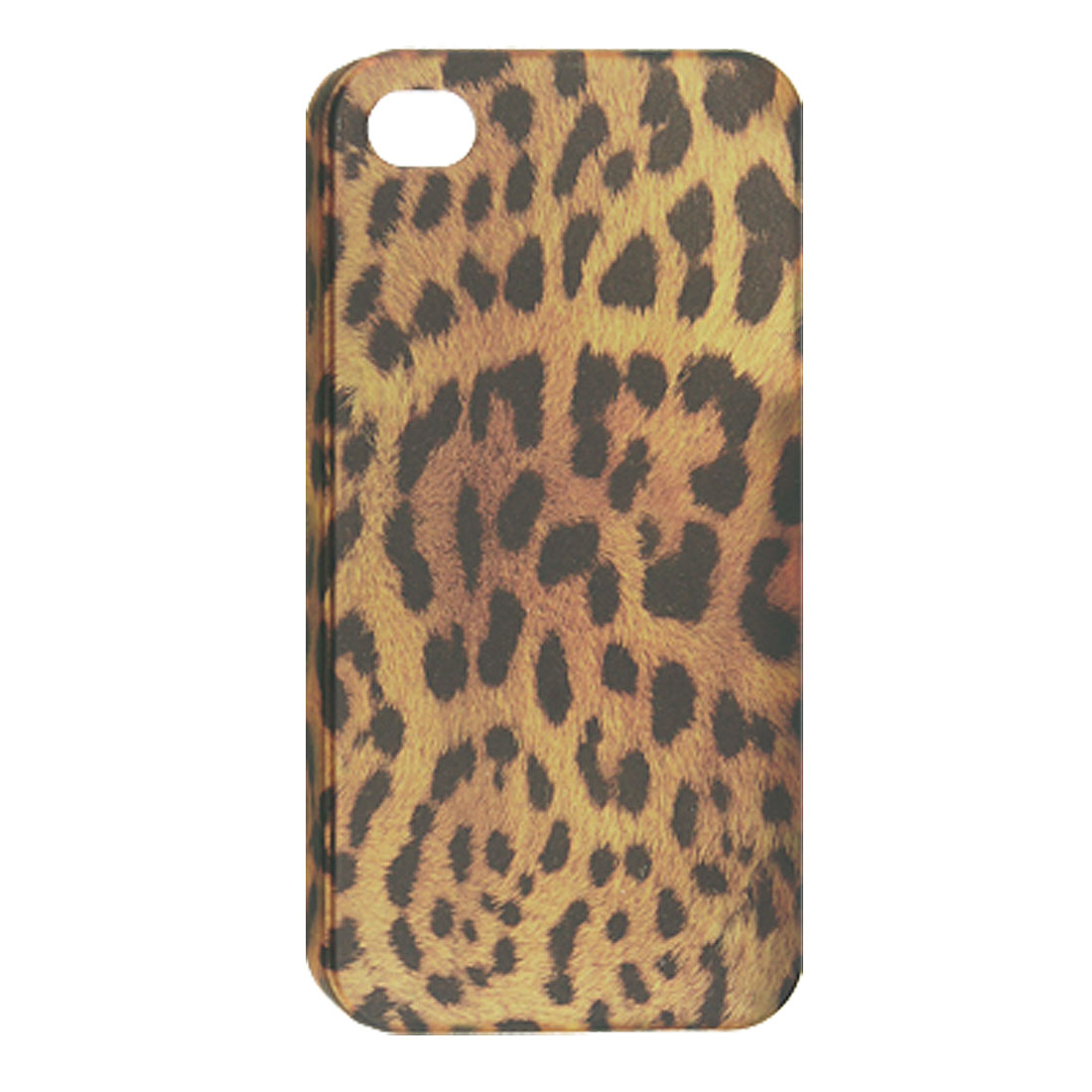 Emulational Leopard Pattern Plastic Back Case for iPhone 4 4G 4S