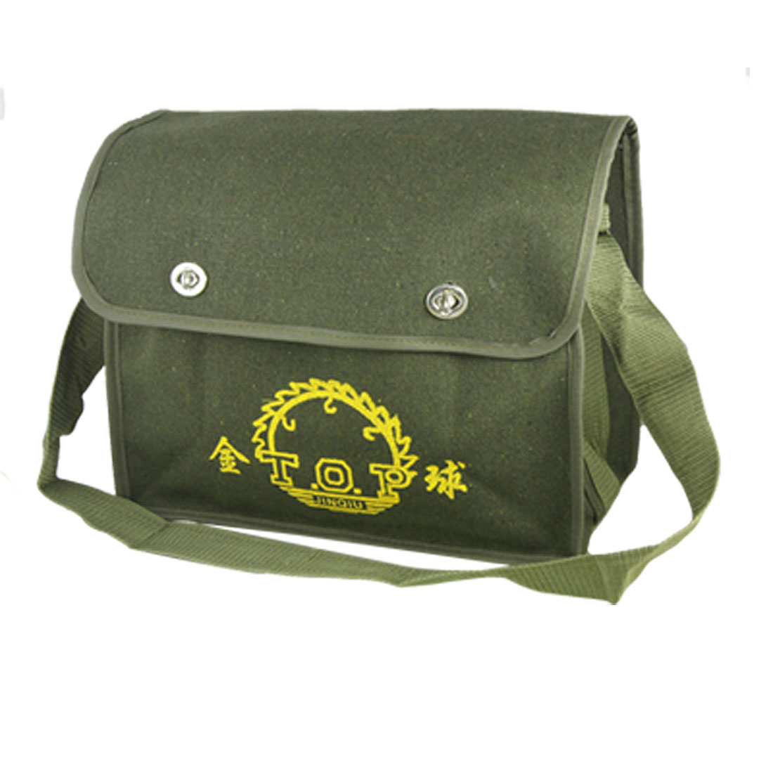 Double Compartments Tool Storage Electrician Shoulder Bag Army Green