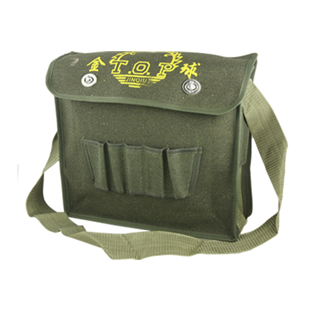 Multi Compartments Army Green Canvas Shoulder Tool Bag for Electrician