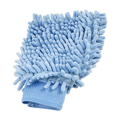 Auto Car Washing Tool Double Side Microfiber Mitt Glove Blue