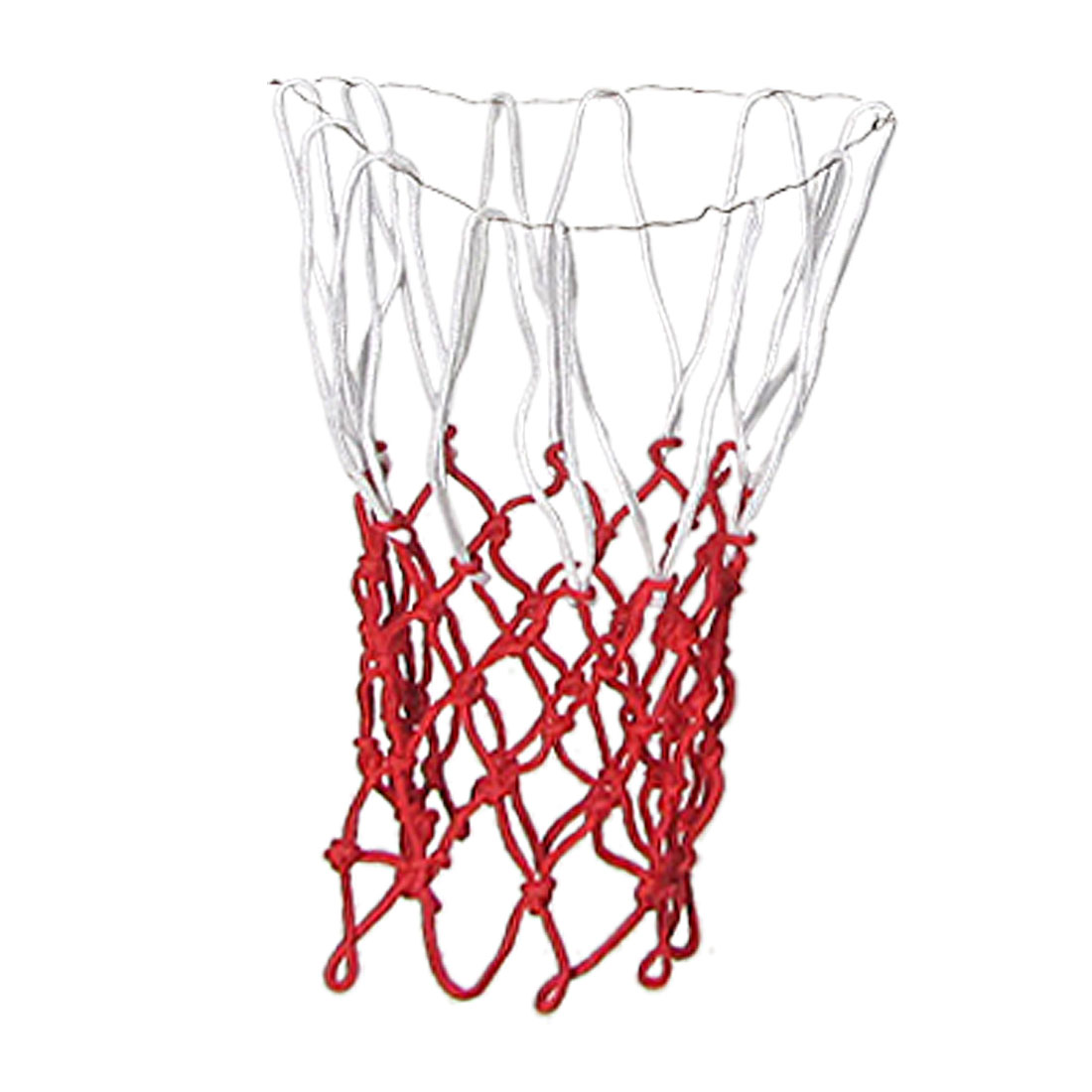Sports Training Red White Knotted Braid Basketball Nets 2 Pcs