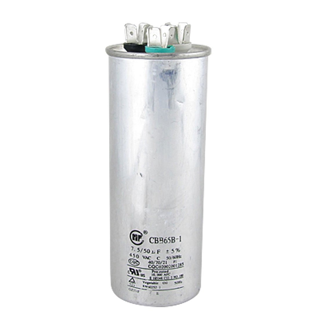 Air Conditioner CBB65B-1 AC 450V 50/60Hz 7.5/50uF Motor Run Capacitor