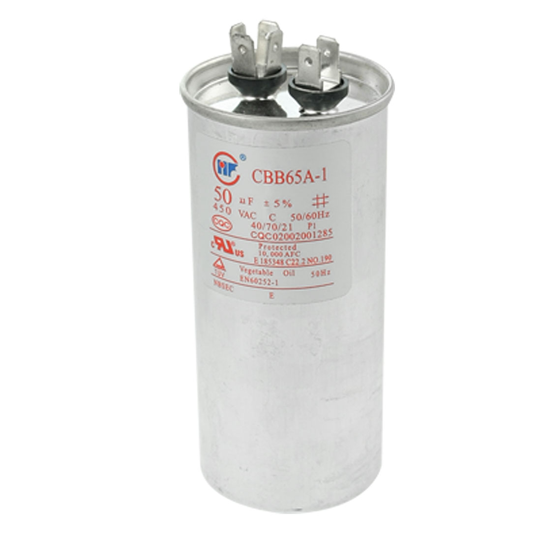Air Conditioner CBB65A-1 50uF AC 450V 50/60Hz Metallized Polypropylene Film Motor Capacitor