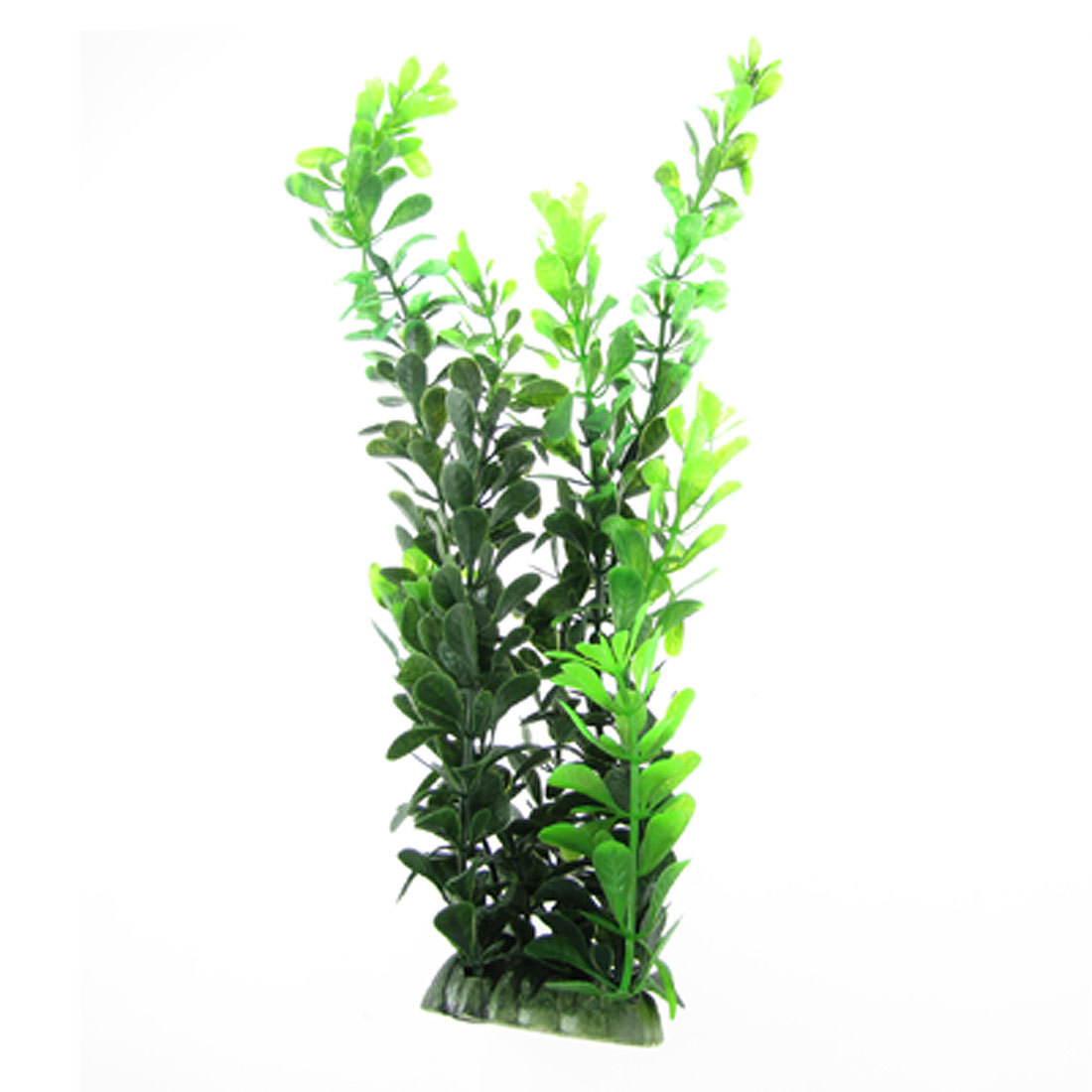 "12"" Fish Tank Aquarium Aquascape Green Leaf Water Grass Plastic Plant Ornament"