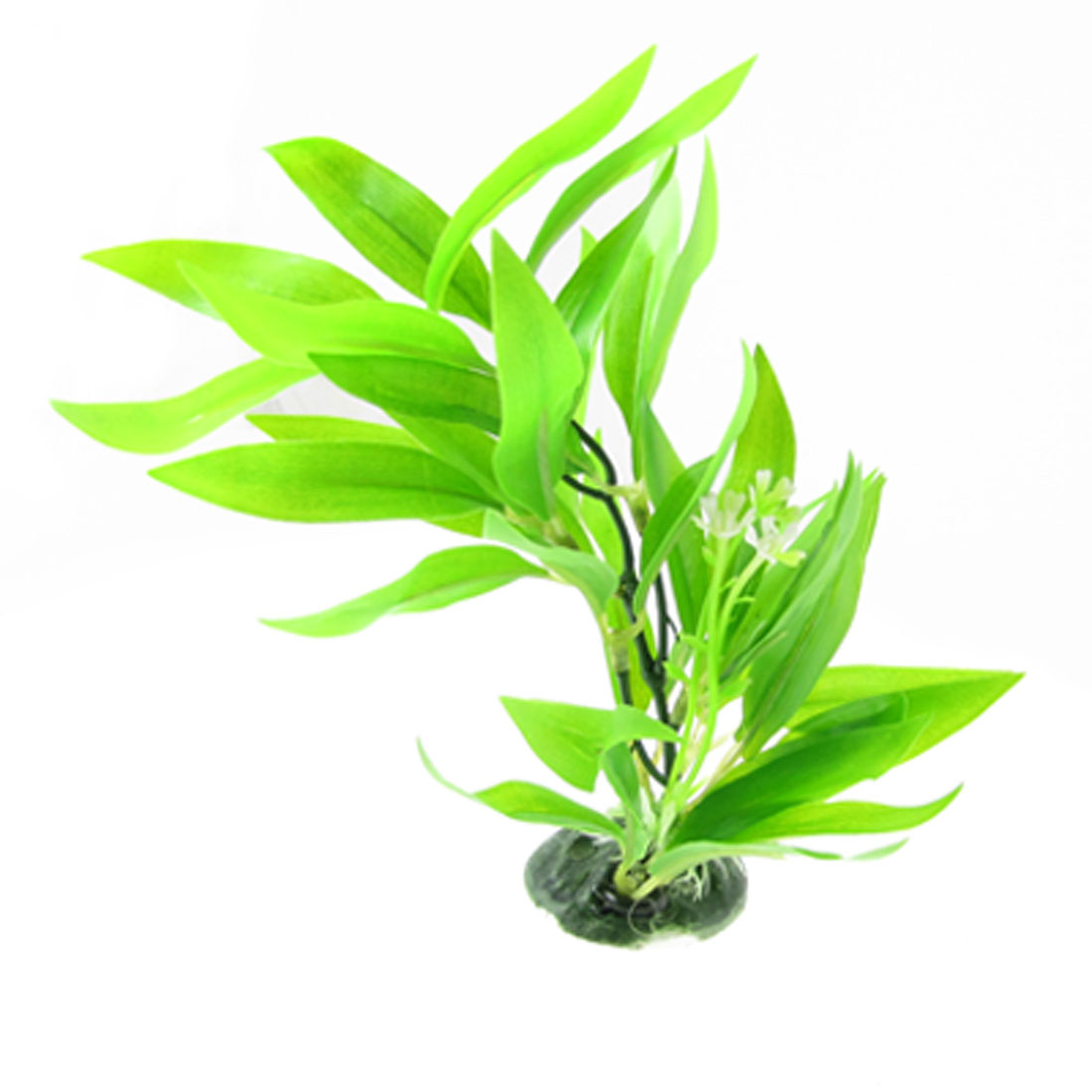 Fish Tank Aquarium Aquascaping Underwater Plastic Leaf Flower Water Plant Decor Green