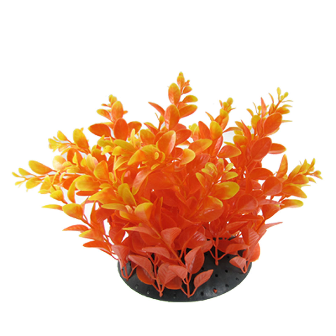 "Fish Tank Plastic Yellow Orange Aquascaping Plants Decor 7.8"" Height"
