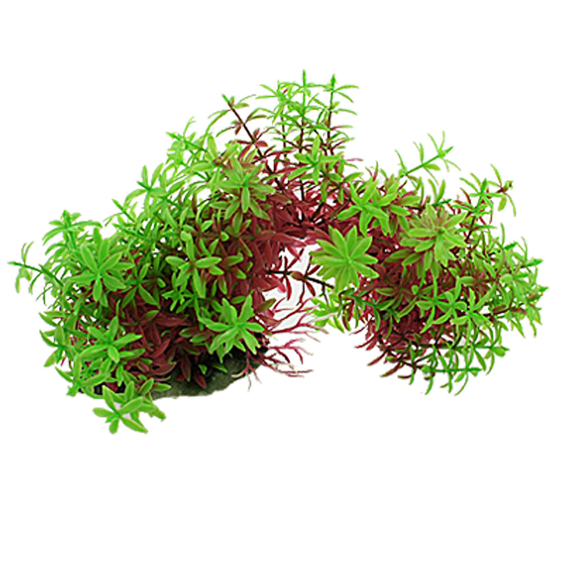 Emulational Green Red Five Leaf Curved Design Plants for Fish Tank