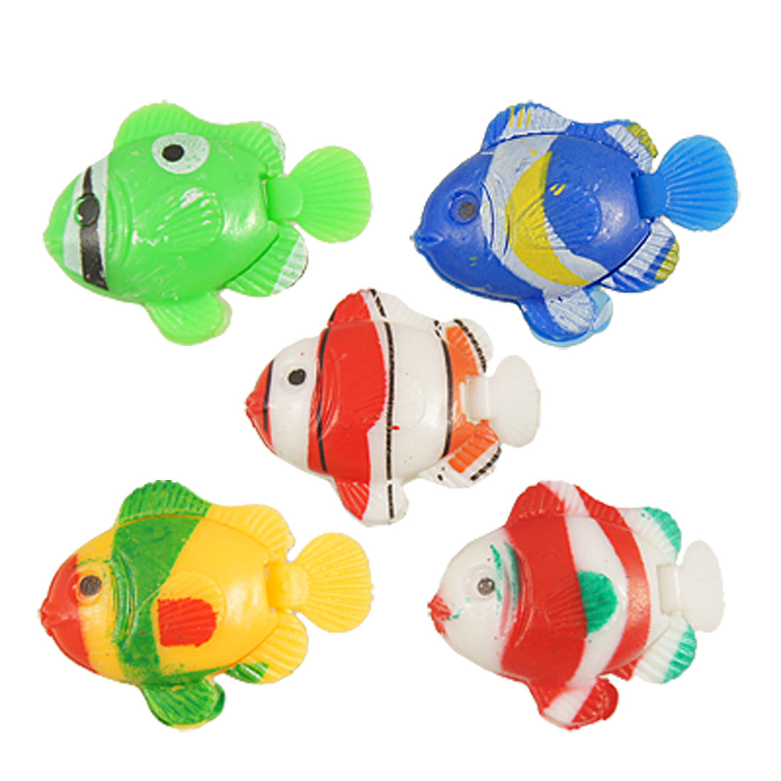 Vivid Artificial Swimming Wiggly Tail Fish for Aquarium 5 Pcs