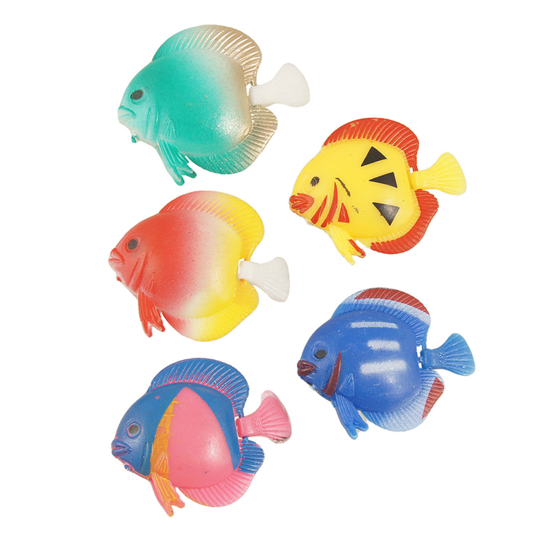 Plastic Manmade Swimming Tropical Fish for Aquarium 5 Pcs