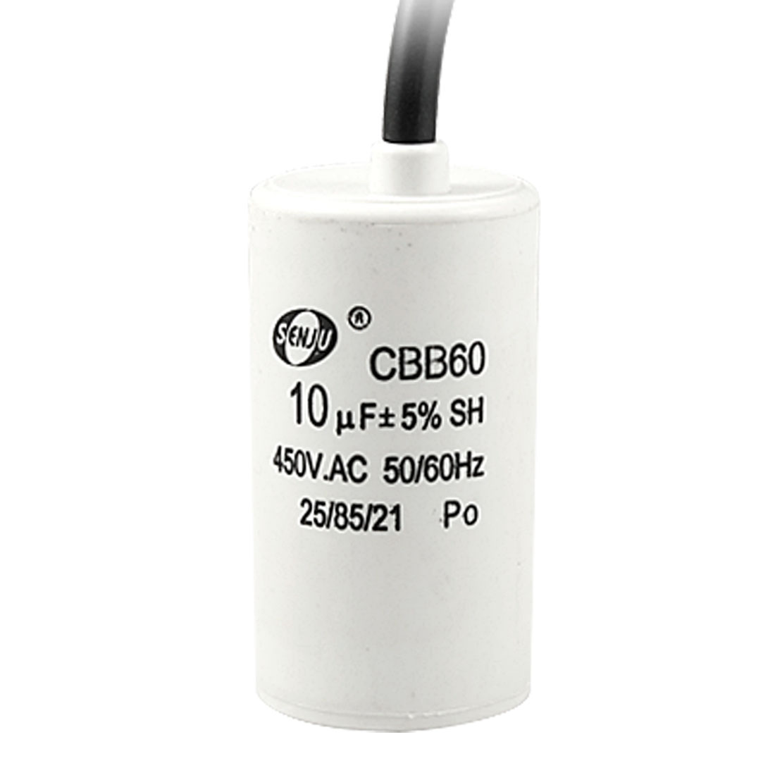 10uF 5% 450V AC Motor Running Capacitor w Wire Lead CBB60 for Washing Machine