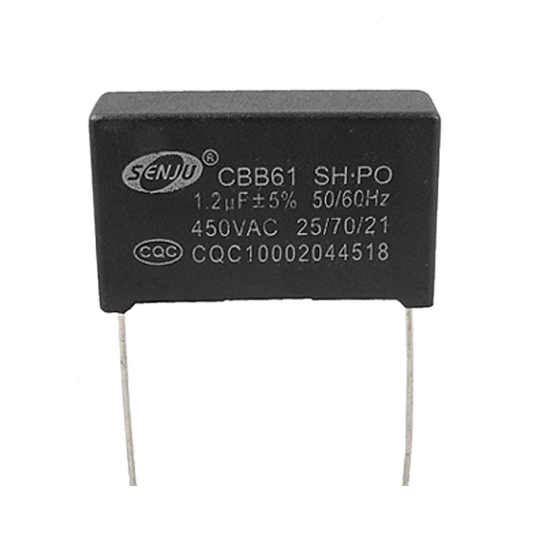 Fan CBB61 Nonpolar 1.2uF 450V AC Motor Running Capacitor