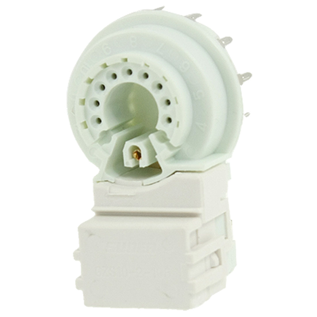 GZS10-2-108 TV Sets Soldering 9 Pin Terminals CRT Socket White