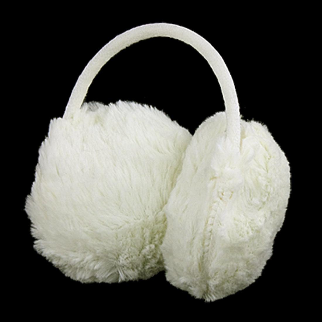 Childrem Off White Fluffy Plush Earwarmers Ear Muffs Earflap Headband