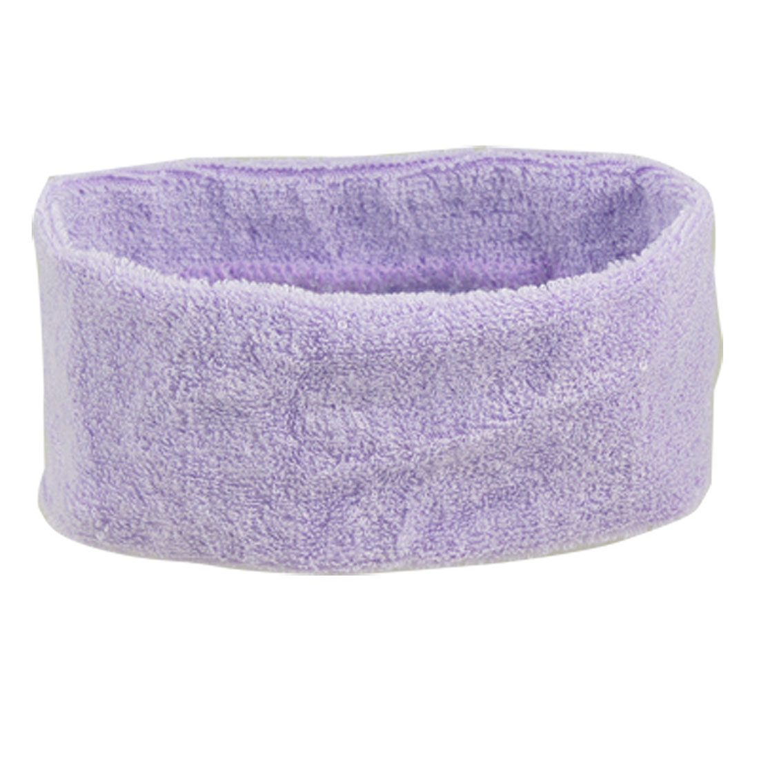 Sports Athletic Excercise Elastic Headband Sweatband Purple 2 Pcs