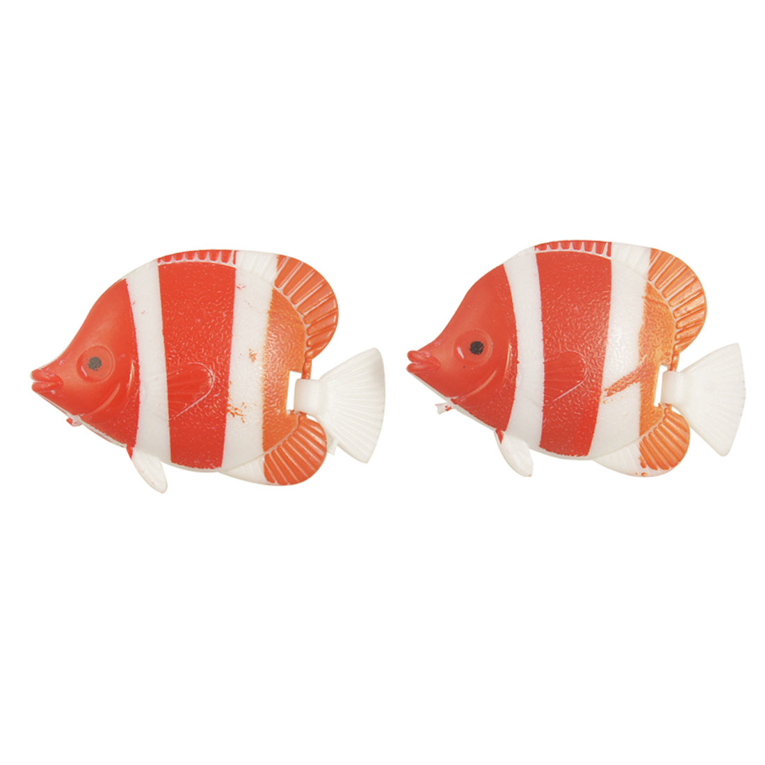 3-color Swing Tail Swimming Plastic Fish for Aquarium Ornament 2 Pcs