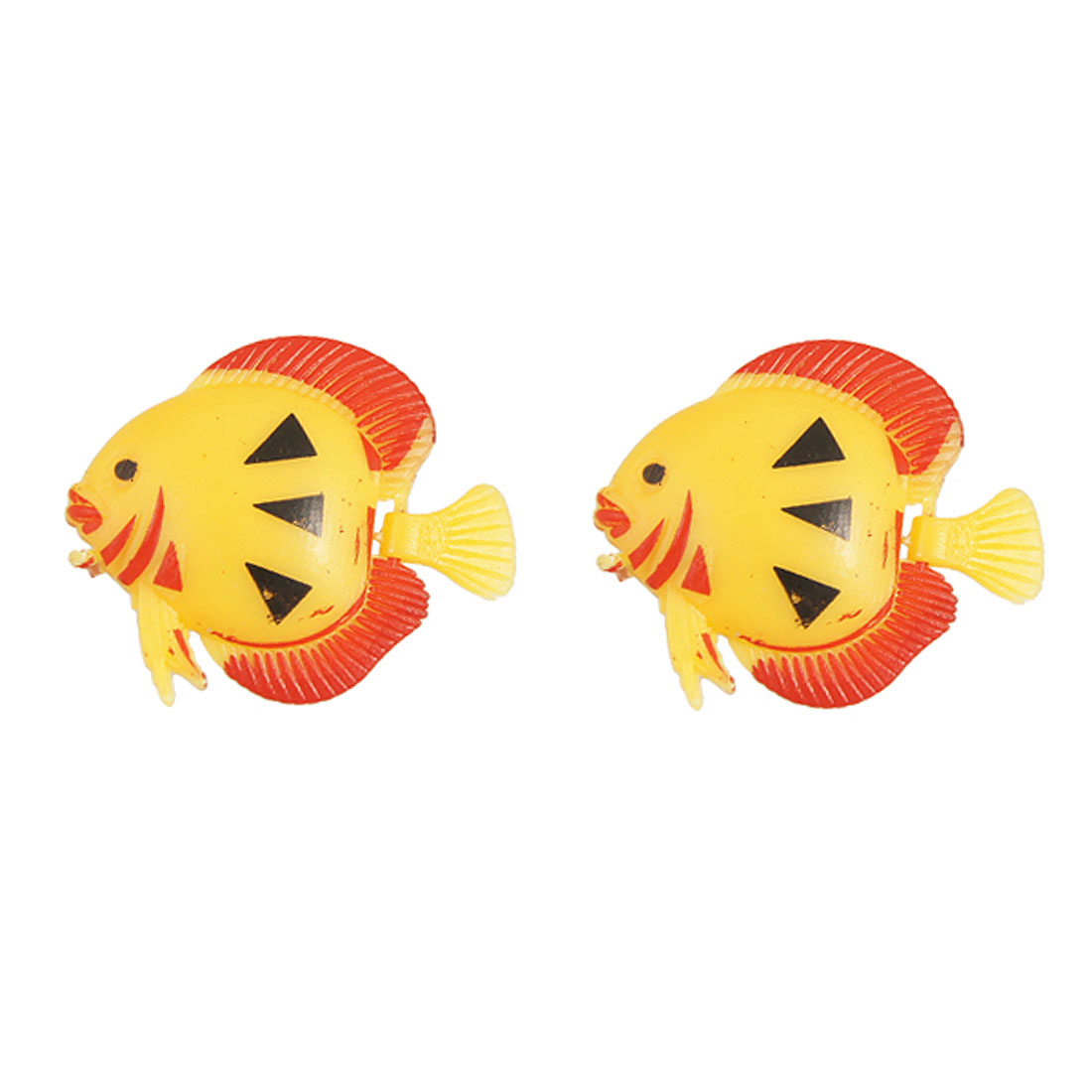Aquarium 2 Pcs Plastic Water Floating Vividly Simulation Fish