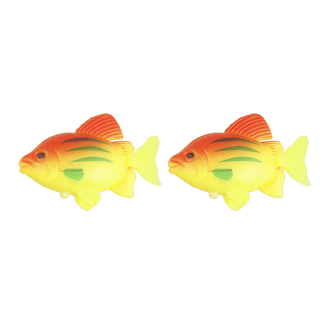 Water Floating Plastic Vividly Life-like Simulation Fish 2 Pcs