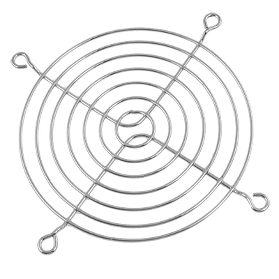 5 Pcs Silver Tone Metal Finger Guards Grills for 11cm Cooling Fan