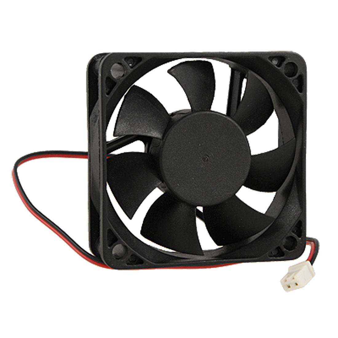 Black Plastic Brushless DC 12V 0.18A 60mm Square Cooling Fan Cooler