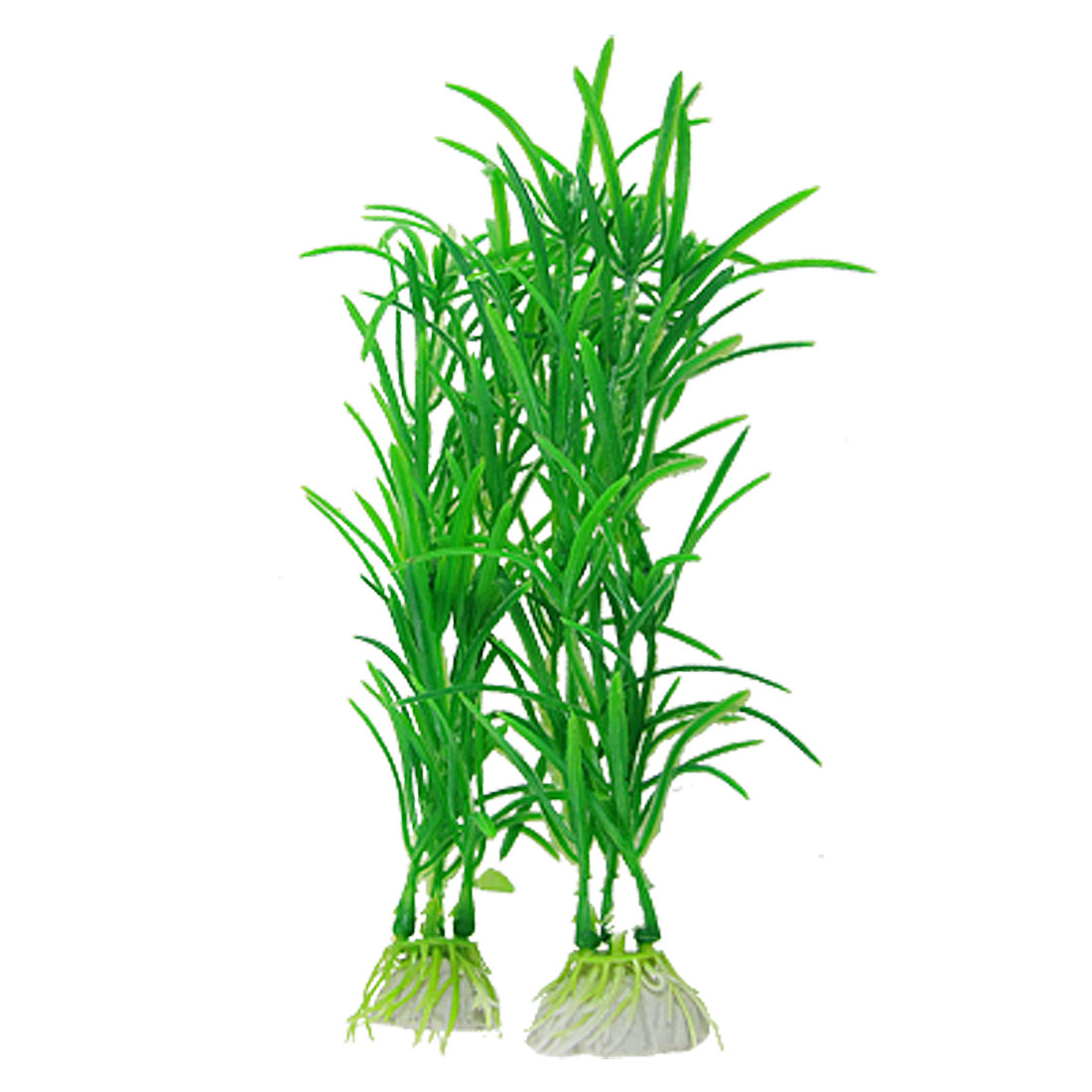 "Aquarium Fish Tank Ornament Artificial Green Aquatic Plastic Plants 7"" 10 Pcs"