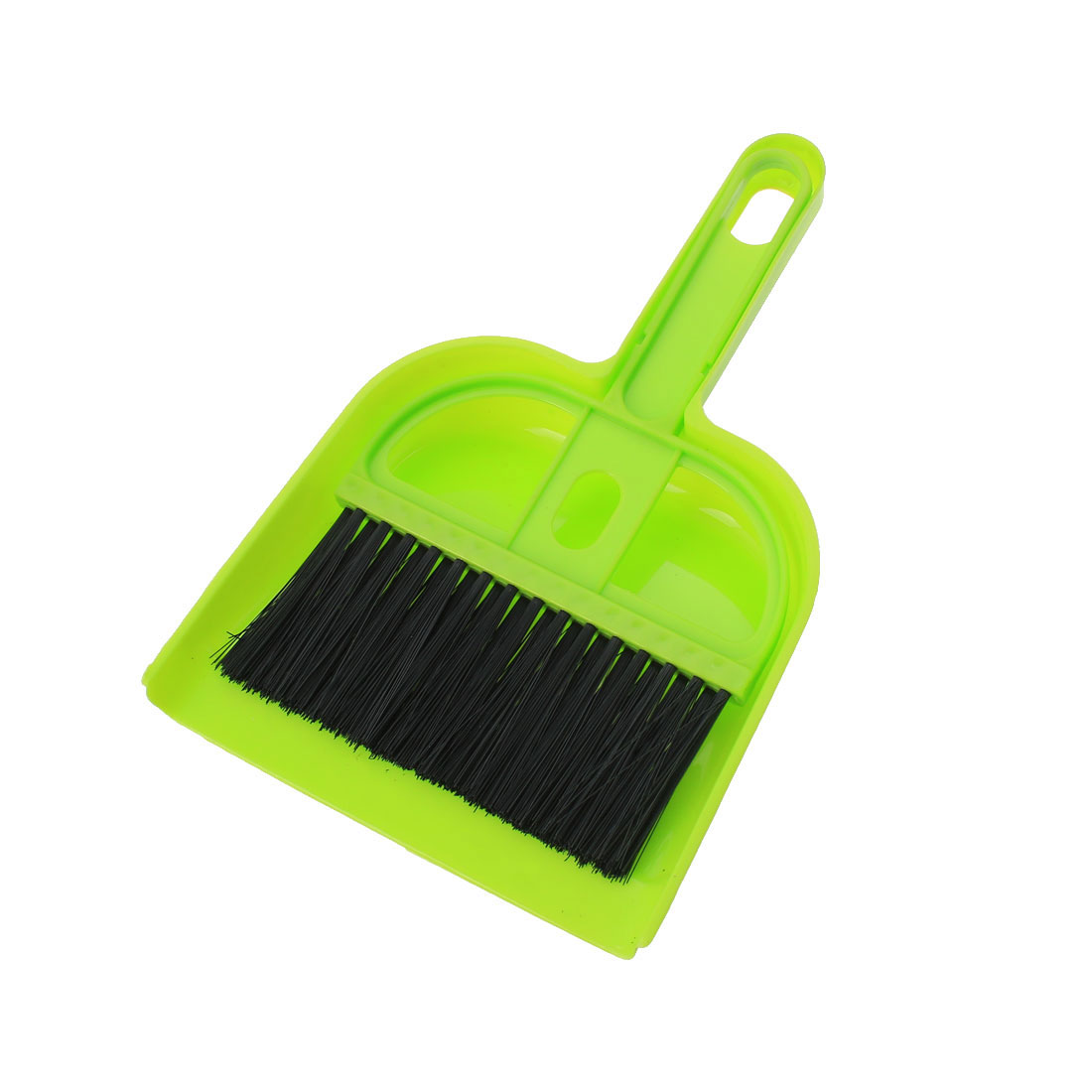 2 in 1 Set Room Corner Cleaning Tools Rubber Broom Dustpan Black Green