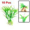 10 Pcs Plastic Green Plants Underwater Decor Ornament for Aquarium