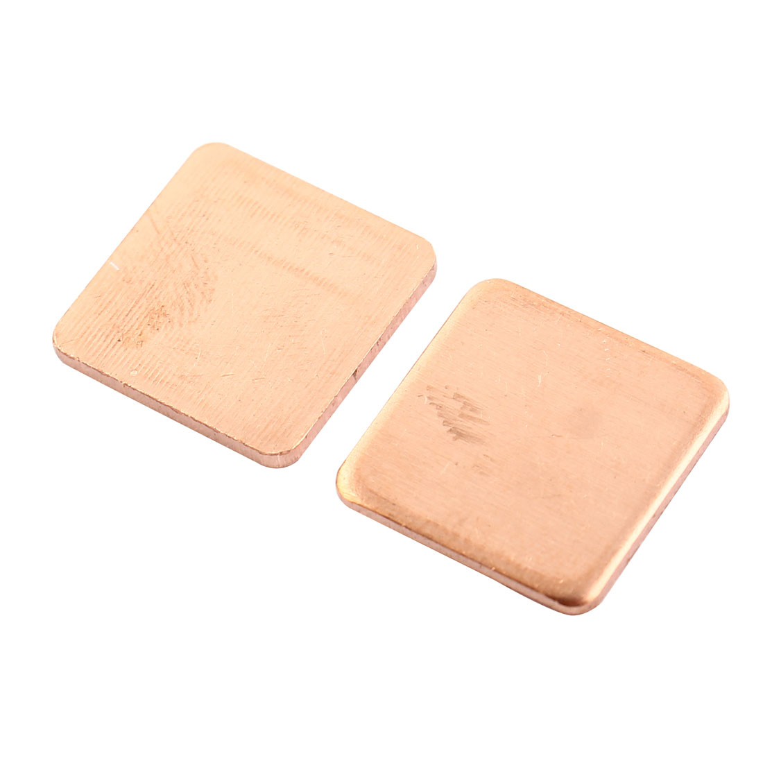 2 Pcs 1mm Thick Heatsink Thermal Pad Copper Shim for Laptop GPU
