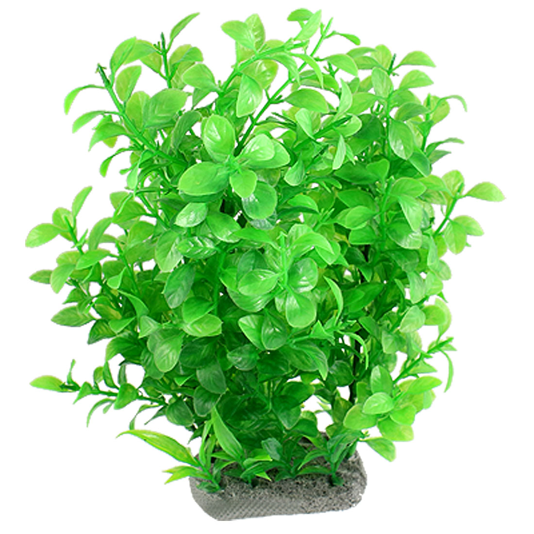 "Green Leaves 11.4"" Plastic Plant Ornament for Aquarium"