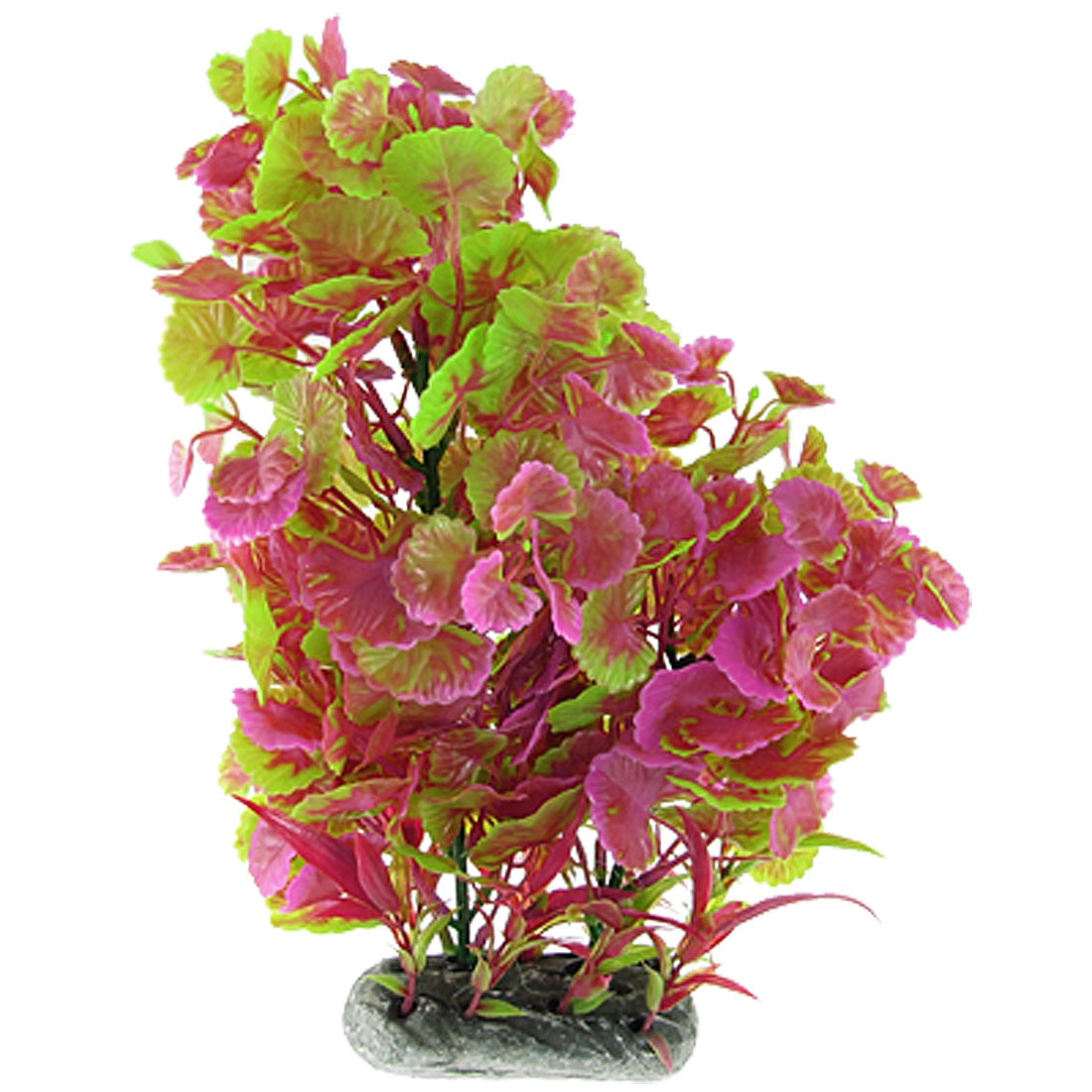 Artificial Magenta Green Plastic Grass Ornament for Fish Tank