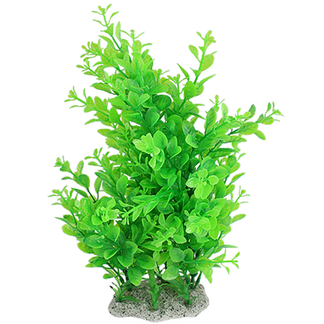 Fish Tank Aquarium Plastic Green Leaves Plants Ornament 12.6""