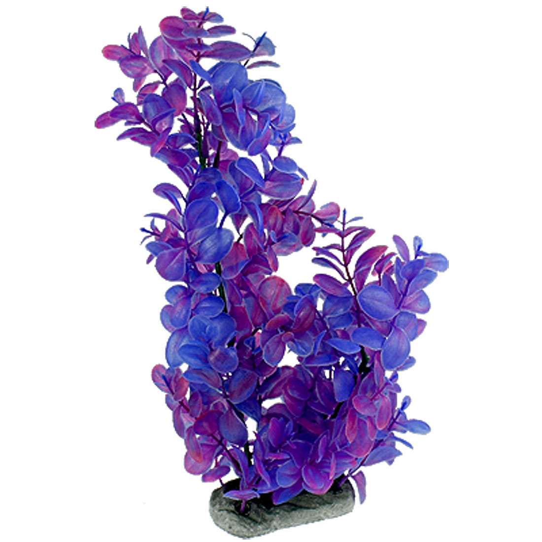 Purple Blue Plastic Grass Aquascaping Plant for Fish Tank