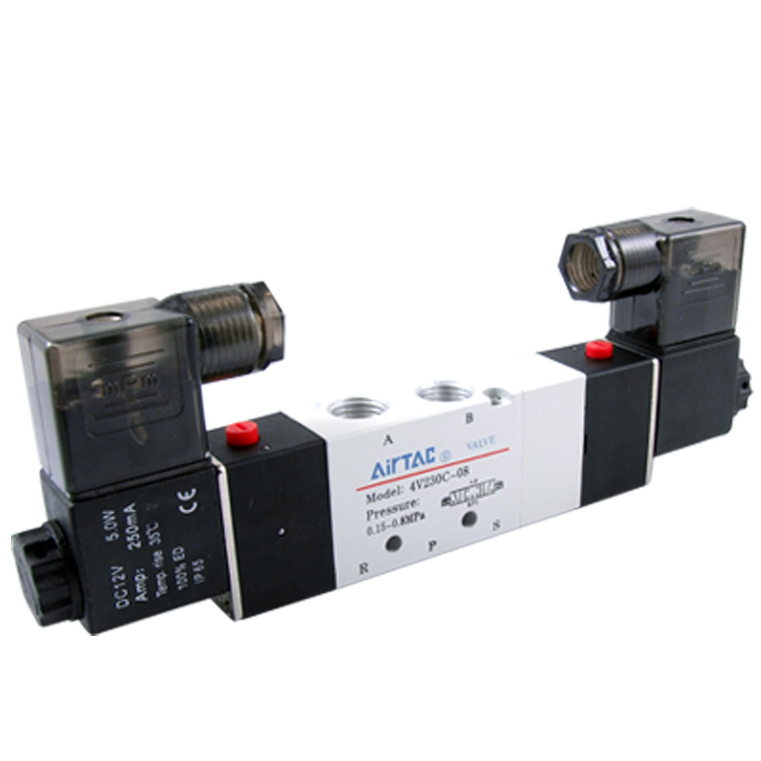 4V230C-08 3 Position 5 Way Double Heads Pneumatic Solenoid Valve