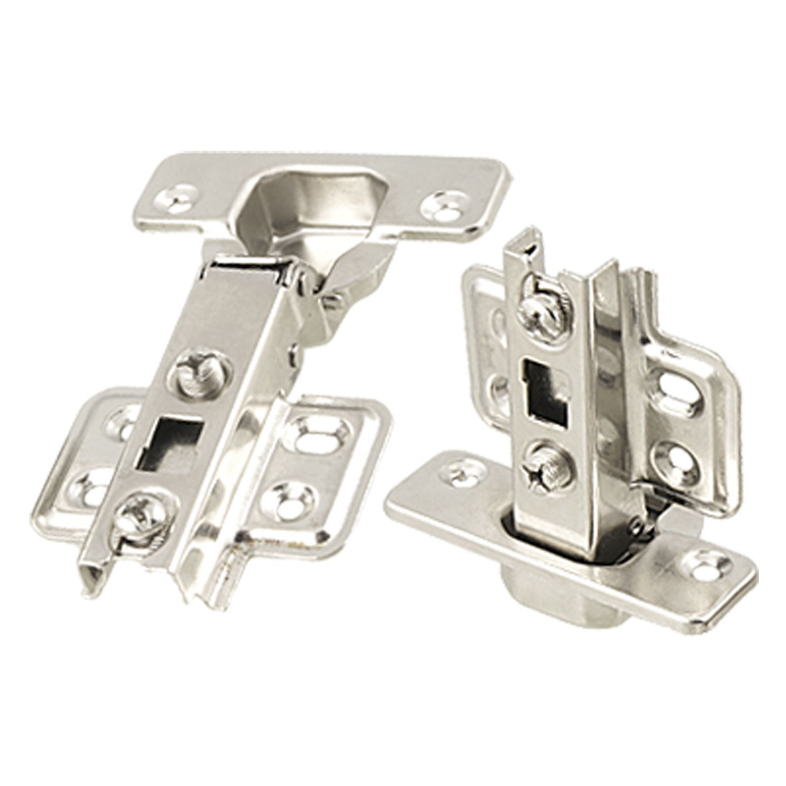 2 Pcs Stainless Steel Cabinet Door Hinge Concealed Inset Manual Close