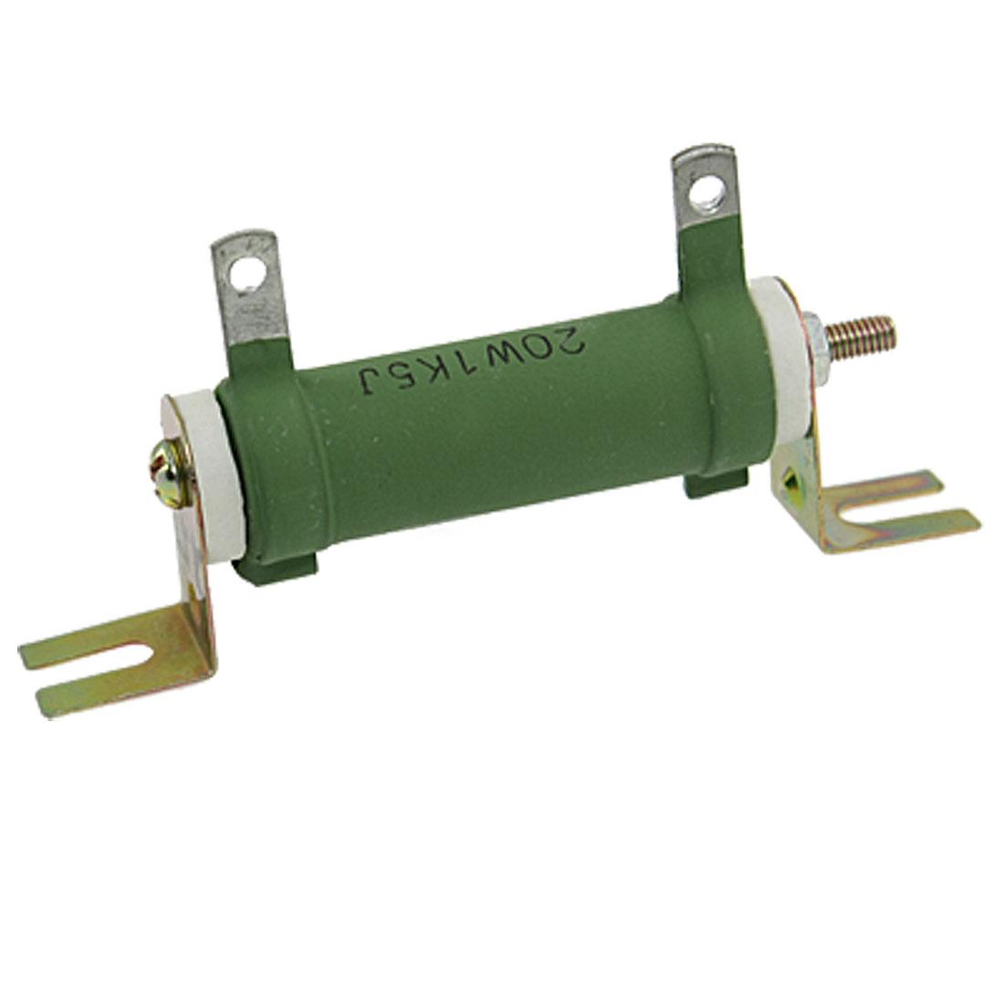 Nonflammable 20W Watt 1K5 1.5K Ohm 5% Ceramic Tube Resistor