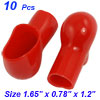 Smoking Pipe Style Battery Terminal Insulating Covers Boots Red 10 Pcs