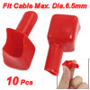Auto Car Square Mouth Battery Cable Terminals Sleeves Boots Red 10 Pcs