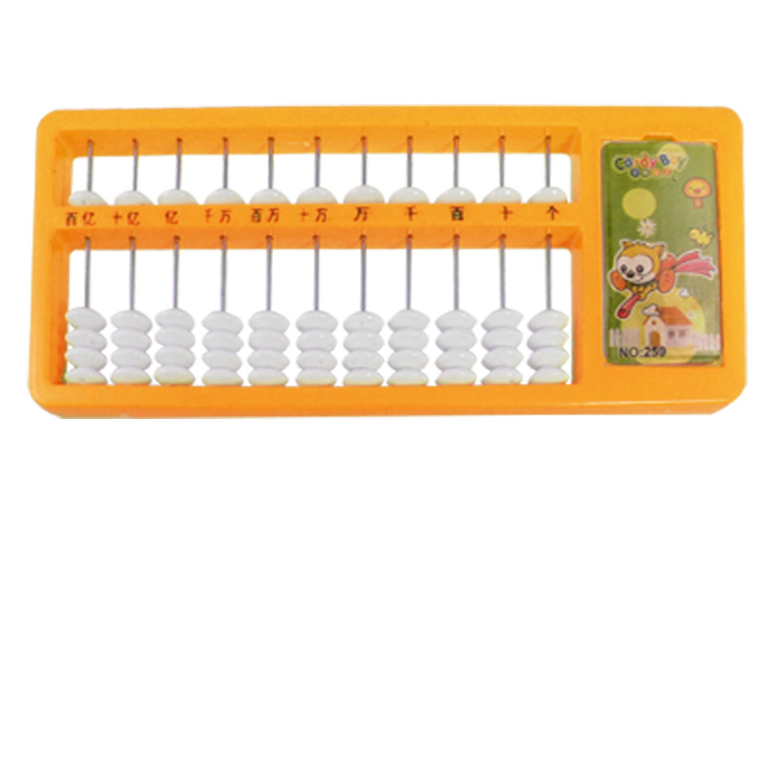 Orange 11 Digits Educational Japanese Soroban Abacus for Kids Children